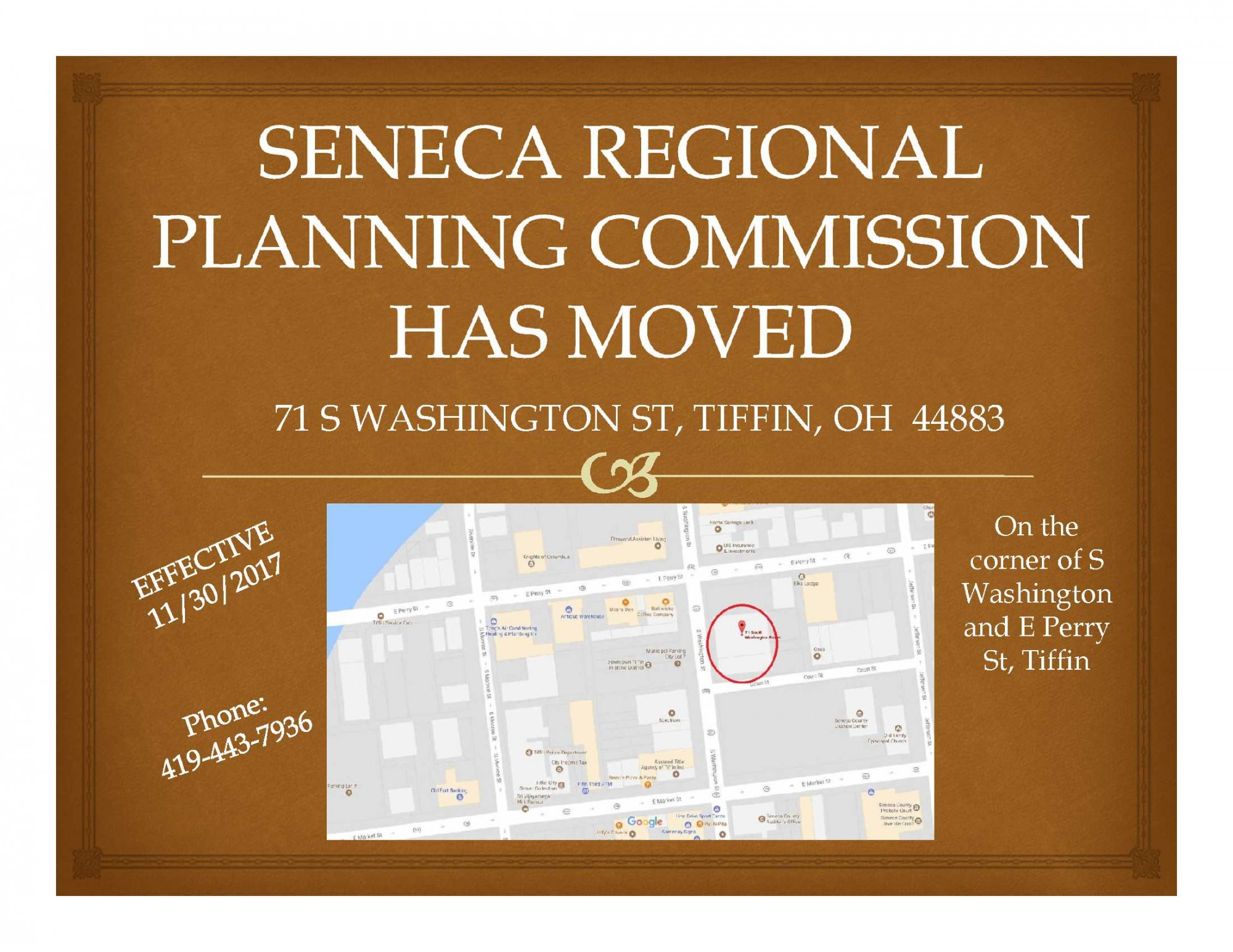 We have moved to 71 S Washington Street