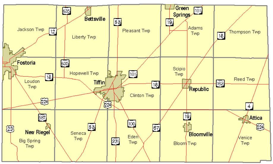 Map Of Seneca County Seneca Rpc
